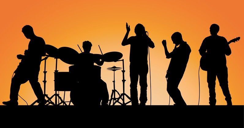 Rock Band Silhouette Related Keywords & Suggestions - Rock Band ... Rock Band Silhouette